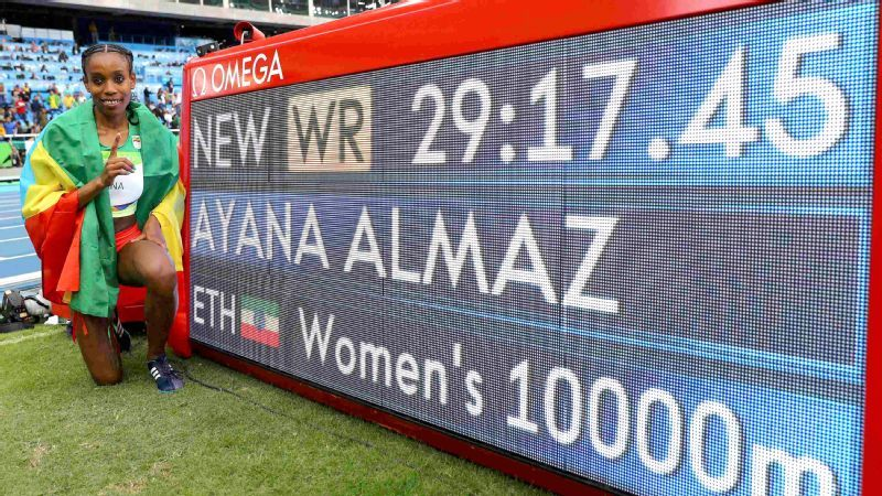 Almaz Ayana, a 24-year-old distance runner from Ethiopia